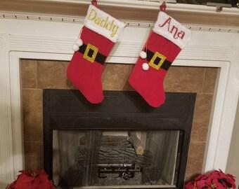 Personalized Christmas Stockings, Santa Stockings,  Christmas Stockings, Stockings, Christmas Decoration