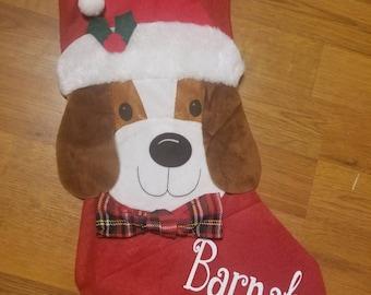Personalized Christmas Stocking, Dog Stocking, Pet Stocking, Animal Stocking,