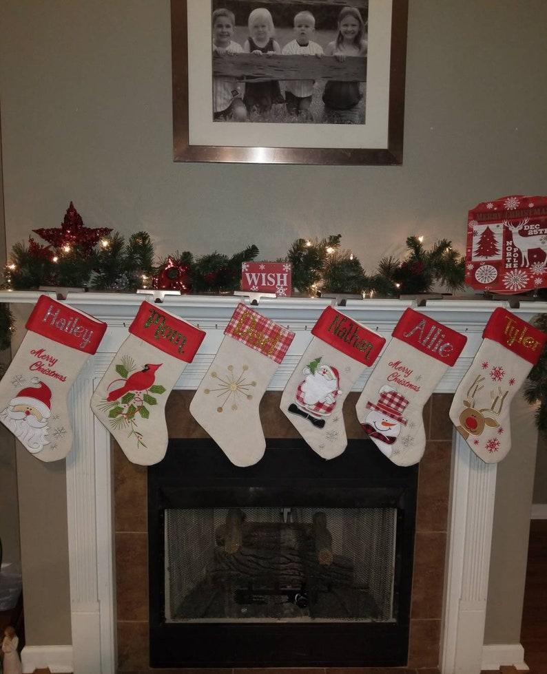 Personalized Christmas Stockings Christmas Stockings Stockings Christmas Stocking Linen