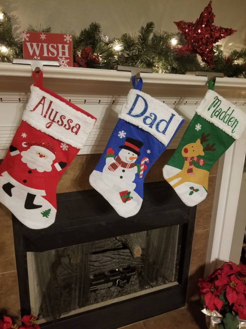 Personalized Christmas Stocking Personalized Stockings Sherpa Top
