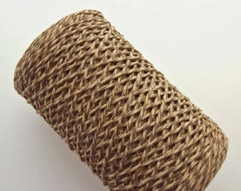 1 roll of cotton yarn to crochet 4 created or dull, mottled 2 Browns, 350 gr. ref E.092