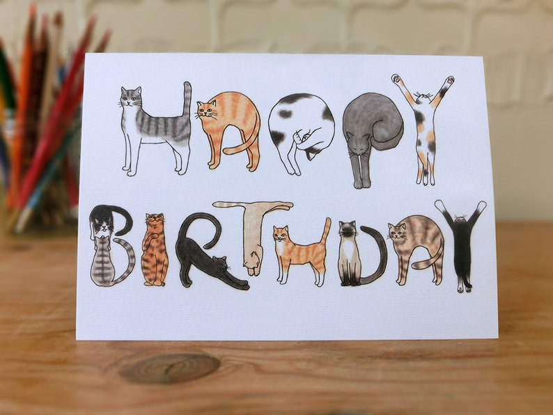 Cats Birthday Card image 0