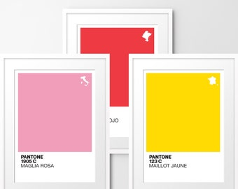 Pantone - Set of 3 Limited edition print, inspired by cycling. Numbered limited editions of 100.