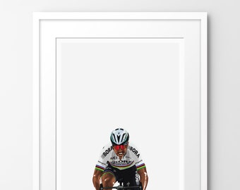 Kings of Le Tour - Sagan - Limited edition print, inspired by cycling. Numbered limited edition of 100.