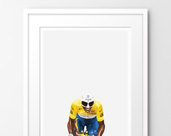 Kings of Le Tour - Indurain - Limited edition print, inspired by cycling. Numbered limited edition of 100.