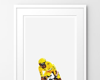 Kings of Le Tour - Wiggins - Limited edition print, inspired by cycling. Numbered limited edition of 100.