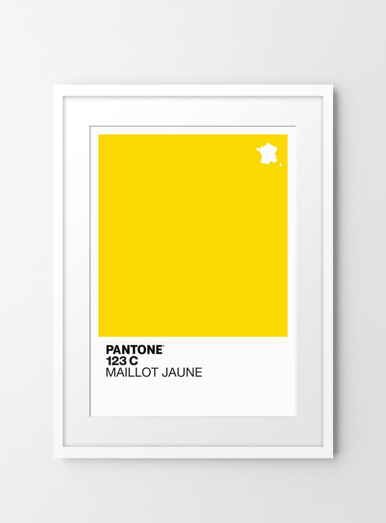 af6bc46c69 Pantone 123c Maillot Jaune Limited edition print inspired