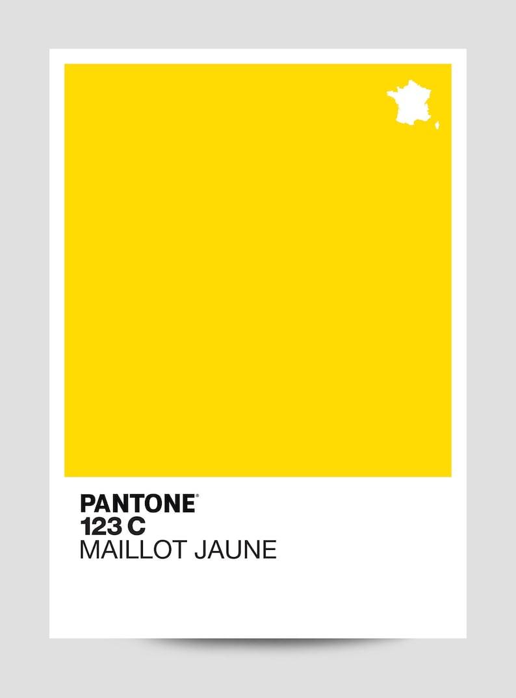 Pantone 123c Maillot Jaune Limited edition print inspired  9ad6777b1
