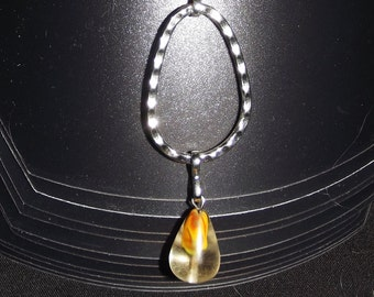 """A drop of rock crystal"" necklace"