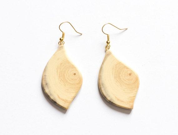 Wood Earrings Driftwood Earrings Wood Earrings Weightless Earrings Unique Design Earrings Stylish Earrings Geometric Earrings