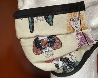 PREORDER - Cotton face mask with filter pocket made with Sanderson sisters fabric