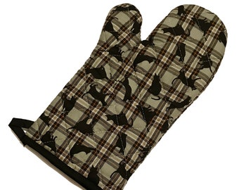 Plaid Cat Oven Mitt