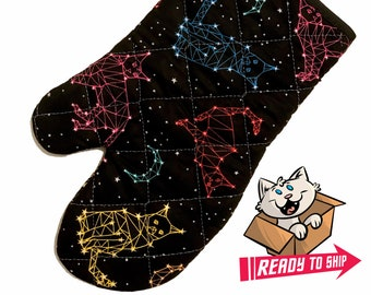Cat Constellations Oven Mitt