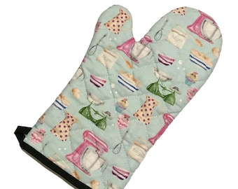 Retro Kitchen Oven Mitt