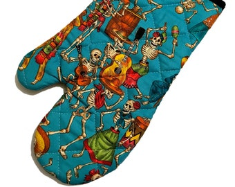 Dancing Skeletons Oven Mitt