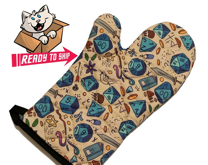 Featured listing image: PREORDER - RPG game-inspired Oven Mitt