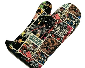 Oven Mitt made with Star Wars Comic fabric