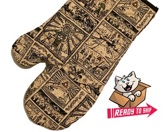 PREORDER - Oven mitt made with Zelda fabric