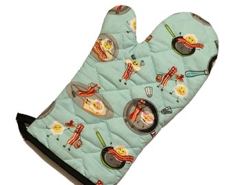 Bacon and Eggs Oven Mitt