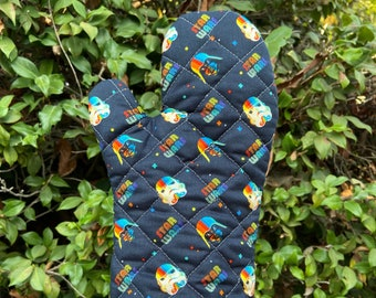 Oven Mitt made with rainbow Star Wars fabric