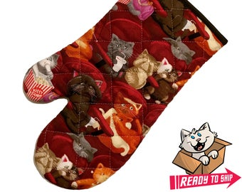 Cat Movie Theatre Oven Mitt