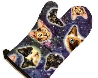 Galaxy Cat Oven Mitt
