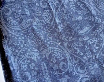 PREORDER - Doctor Who damask-inspired cotton face mask with filter pocket