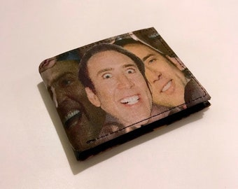 Nicolas Cage-inspired bifold wallet