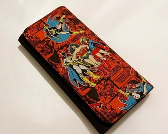 Wallet made with DC comics fabric