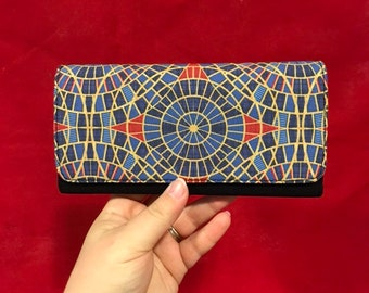 Wallet made with Marriott carpet-inspired fabric