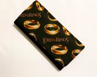 Wallet made with Lord of the Rings fabric