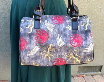 Handbag made with Game of Thrones fabric