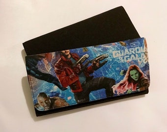Wallet made with Guardians of the Galaxy fabric