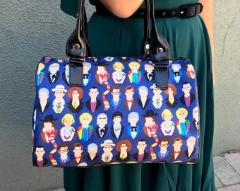 Handbag made with twelve doctors fabric