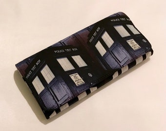 Wallet made with Tardis fabric