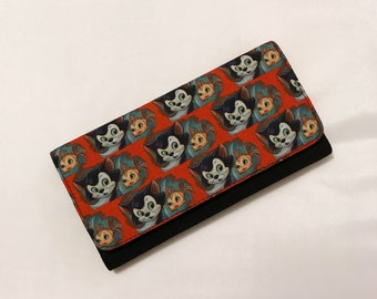 Wallet made with Figaro fabric