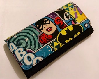 Wallet made with Batgirl fabric