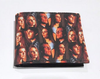 Bifold wallet made with Buffy characters fabric