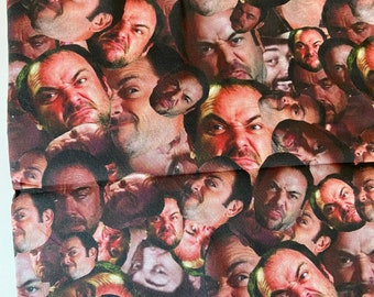 PREORDER - Cotton face mask with filter pocket made with Mark Sheppard-inspired fabric