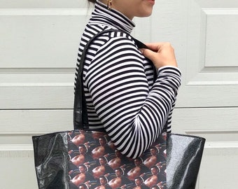 Large handbag made with sexy Jeff Goldblum fabric
