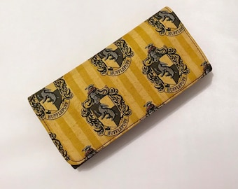 Wallet made with Hufflepuff fabric