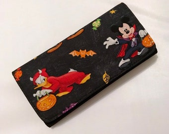 Wallet made with Disney Halloween fabric
