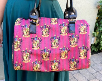Handbag made with Gryffindor fabric