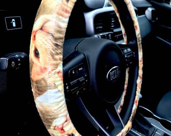 Flamepoint Siamese Cat Steering Wheel Cover