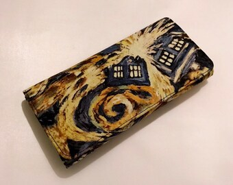 Wallet made with Exploding Tardis fabric