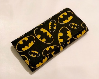 Wallet made with Batman fabric