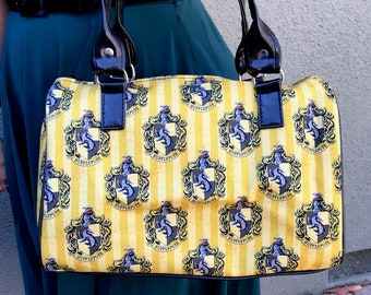 Handbag made with Hufflepuff fabric