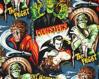 PREORDER - Classic movie monster face mask with filter pocket