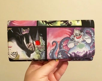 Wallet made with Disney villain fabric