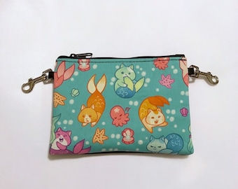 Purrmaids small zippered bag